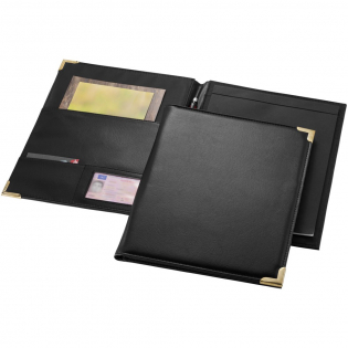 Portfolio with documents pockets, pen loop and 20 pages lined notepad. Pen and accessoires not included.