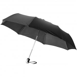 """21.5"""" Schirm mit 3 Segmenten, automatisches Öffnen und Schließen per Knopfdruck. Metall Schaft und Speichen. Inkl. Schutzhülle."""