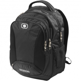"""Bullion 17"""" laptop backpack. Exclusive design laptop backpack with padded laptop pocket that fits most 17"""" laptops, padded tablet sleeve, front zipper pocket with organisation panel and two side pockets. 420D Polyester."""