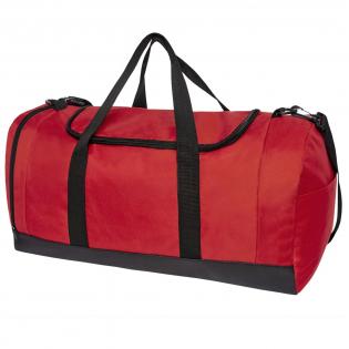 Seesack mit großem Hauptfach und verstärkter Basisplatte. Ausgestattet mit einer erweiterbaren Nass-/Trockentasche mit einem luftdurchlässigen Netzloch und einem abnehmbaren gepolsterten Schultergurt.