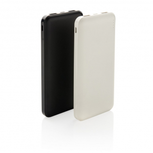 Powerful and portable 10.000 mAh powerbank made out of lightweight ABS that fits into your pocket so perfectly that you can take it anywhere you go. When fully charged it will provide you with enough energy to re-charge your mobile phone up to five times. The powerbank contains a long lasting grade A 10.000 mAh high-density lithium polymer battery. With dual USB port. The power indicators will indicate the remaining energy level so you always know when to re-charge. Input 5V/2A. Type C input: 5V/2A  Output USB 1: 5V/2A Output USB 2: 5V/1A