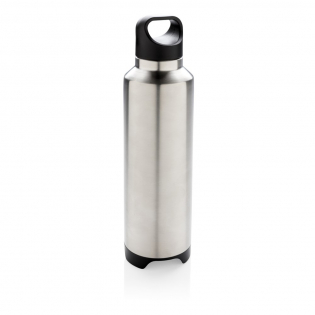 Leak proof vacuum flask 304 SS inside and 201 SS outside. Content: 500 ml. Includes removable speaker in the base. BT 4.2 and can be used up to 10 metres away. The 450 mAh poly battery allows a play time of up to 4 hours. Includes micro USB cable.