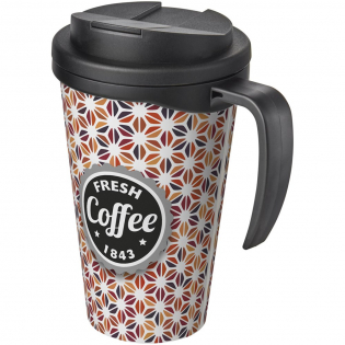 Double-wall insulated mug with secure twist-on spill-proof lid. Mug features a full colour wraparound design, moulded into the mug. Lid clips closed to prevent spills and seals without silicone. You can mix and match colours to create your perfect mug. Contact us for additional colour options. Made in the UK. Presented in a white gift box.