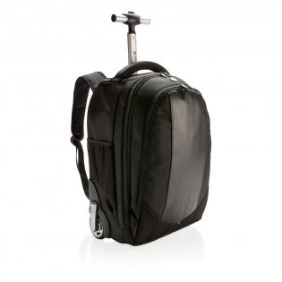 Design und Funktionalität. Dieser Rucksack und Trolley in einem bietet - wie das Design schon vermuten lässt - beides! Mit der Kombination aus hochwertigen Materialien und einem Designer-Look zieht dieser Trolley mit Griff und Rädern auf alle Fälle alle Blicke auf sich. Geschütztes Design®