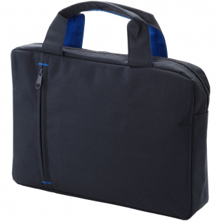 Brief bag with main zippered compartment and front zipper pocket.