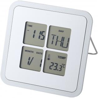 Schreibtischuhr mit Zeitanzeige, Weckfunktion, Schlummerfunktion, Kalender und C/F-Thermometer. Inkl. Batterie.