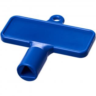 Universalschlüssel für Elemente wie Heizkörper, Zählerkästen, Straßenmasten. Die Kanten der dreieckigen Öffnung sind 8 mm lang.