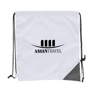 Faltbarer und leichter Rucksack aus festen 190T Polyester. Abmaße aufgefaltet: 36x40 cm. Fassungsvermögen: ca. 8 Liter.