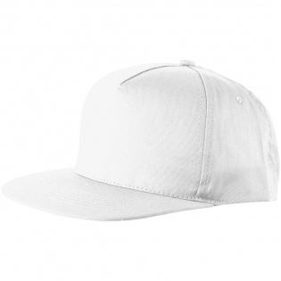 Flat visor. Embroidered eyelets for ventilation. Fabric hook and loop fastener. Head circumference: 58 cm.
