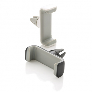 360 Grad universal einsetzbarer und flexibler Telefonhalter für das Auto. Aus ABS Material und Silikon - mit Edelstahl Mechanismus, um den Halt zu gewährleisten.
