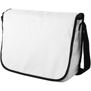 Dispatch bag with adjustable shoulder strap, flap with hook & loop closure, large main compartments, small zipper pocket and several accessory pockets.