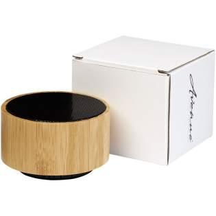 Een duurzamere keuze! De Cosmos bamboe Bluetooth® speaker zal zeker de aandacht trekken! De speakerbehuizing is gemaakt van echt bamboe en met een vermogen van 3W produceert de speaker een kristalhelder geluid dat ongeveer twee uur lang op maximaal volume te horen is. De speaker beschikt ook over een FM-radiotuner, Micro SD-kaartingang en een USB-ingang. Met andere woorden, muziek kan worden afgespeeld vanaf de radio, Micro SD-kaart of een USB-stick! Ingebouwde muziekregeling en microfoon voor handsfree bediening. Bluetooth versie 4.2 met een werkbereik van 10 meter.