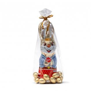 Big Chocolate Easter Bunny with Eggs