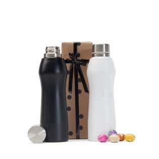 Design Fles Zwart of Wit met Milka Eieren