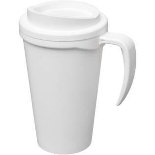 Mug isotherme à double paroi avec couvercle à visser et poignée intégrée. Couleurs à mélanger et à assortir pour créer le mug parfait. Pour plus de couleurs, contactez le service clientèle. Fabriqué au Royaume-Uni. Livré dans une boîte cadeau blanche.