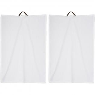 Katoenen handdoeken met PU lederen lus aan de achterzijde. Geleverd in een Seasons geschenkverpakking.