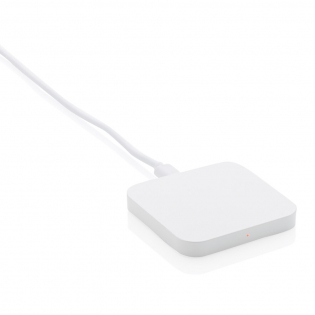 Wireless charger to charge all wireless devices. Smooth ABS surface optimal for an all over digital print. The LED indicator will light up when the device is charging. Compatible with all QI enabled devices like Android latest generation, iPhone 8 and up. Including 50 cm PVC free TPE micro usb cable. Input: 5V/2A; Output: 5/1A - 5W