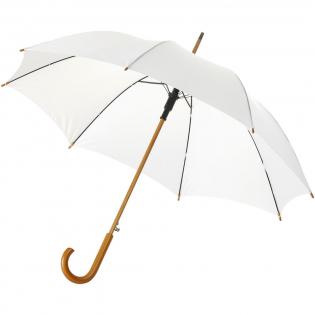 """23"""" automatische paraplu met houten handvat en metalen baleinen."""