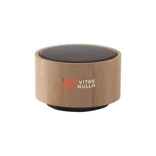 ECO Bluetooth 3W draadloze speaker met geïntegreerd sfeerlicht. De speakerbehuizing is gemaakt van natuurlijk bamboe. Met een vermogen van 3W produceert de speaker een kristalhelder geluid. De ingebouwde, oplaadbare 300 mAh lithiumbatterij staat, eenmaal opgeladen, garant voor een speelduur van maximaal 3 uur. Draadloos bereik tot 10 meter. Eenvoudig te bedienen en compatible met de meest gangbare smartphones en tablets. Input: DC5V. Output: 3.7V/3W. Inclusief micro-USB oplaadkabel en gebruiksaanwijzing. Per stuk in kraft doos.