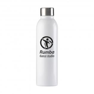 Schlanke, doppelwandige Edelstahl-Wasserflasche/Thermoflasche mit hochglänzender Oberschicht und gebürstetem Schraubverschluss aus Edelstahl. Geeignet zur Temperaturerhaltung von kalten oder heißen Getränken. Tropffrei. Fassungsvermögen: 500 ml. Pro Stück in einer Verpackung.