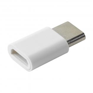 Connecteur enfichable de Micro-USB vers le type C. Idéal comme extension pour les câbles Micro-USB standard.