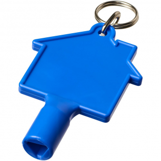 Universalschlüssel mit Schlüsselanhänger für Elemente wie Heizkörper, Zählerkästen, Straßenmasten. Die Kanten der dreieckigen Öffnung sind 8 mm lang.