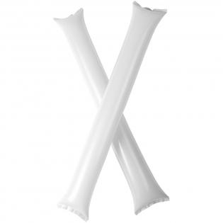 2 delige cheeringset met opblaasbare cheering sticks. Ideaal, herbruikbaar product om je team te steunen. Elke stick heeft een formaat van 60 x 10 cm met een groot decoratiegebied. Opvallend item voor het creëren van een goede sfeer.