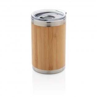 Deze unieke bamboe koffiebeker wordt geleverd met 304 foodgrade en roestvrijstalen binnenwand en buitenkant van bamboe. Perfecte afmeting voor de meeste koffiemachines. Houd je drankjes maximaal 3 uur warm en koel tot 6 uur. Inhoud: 270 ml.