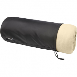 Ultra-soft RPET polar fleece and 180 g/m2 sherpa blanket. Comes with a 190T RPET carry pouch with drawstring closure. Packed in a recycled polybag. Pouch size: length 40 cm, diameter 18 cm.