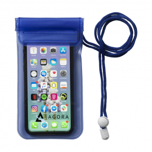 Strong PVC waterproof cover with triple, extra secure snap closure, velcro and lanyard. Your smartphone can be used whilst in the pouch. Protects electronic equipment and important documents against water and snow.