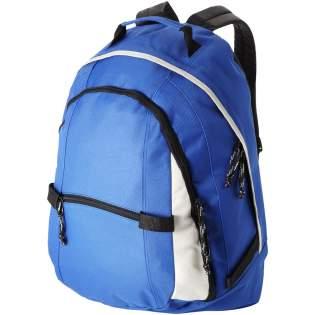 Sac à dos tendance confortable avec 2 bretelles réglables, 2 compartiments zippés, une poche avant à zip et une poche avant avec scratch.