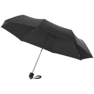 """21.5"""" paraplu met metalen frame, metalen baleinen en kunststof handvat. Geleverd met een hoes."""