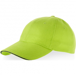 Pre-curved visor with sandwich. Embroidered eyelets for ventilation. Metal buckle closure. Head circumference: 58 cm.