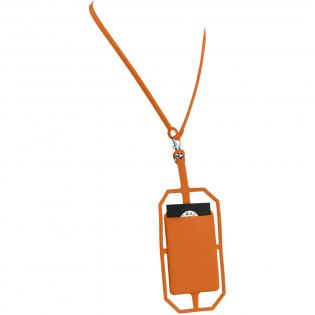 Deze siliconen houder kan eenvoudig bevestigd worden aan de meeste telefoons. Ook als de telefoon is voorzien van een beschermhoes. Perfect om ID-kaarten, hotelkamerkaart of contant geld te waren. Inclusief RFID functie om je persoonlijke gegevens te beschermen tegen skimmen. Drukleur mogelijk in zwart of wit.
