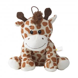 Girafe en peluche. Jouet très doux et chic. Yeux brodés. Avec boucle.