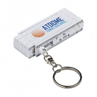 Mini ruler key ring, made from strong fibreglass. Length of ruler 0.5 m/20 in. Made to European standards.