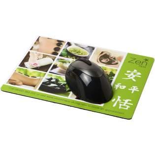 Mousepad mit einer großen Brandingfläche und guter Druckqualität. Auf hochwertiger schwarzer Schaumstoffbasis hergestellt.