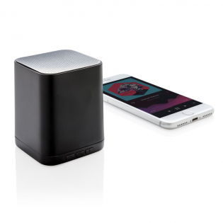 Wireless 3W speaker that can be customised with your logo on the ABS surface. The logo will light up for optimal exposure of your brand. The speaker uses BT 4.2 for smooth connection up to 10 metres. The built-in 400 mAh battery allows you to play music for up to 4 hours on 1 charge and re-charge is done in 1 hour.