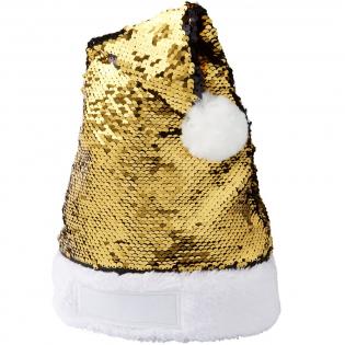 Glänzende glitzernde Meerjungfrau-Pailletten-Weihnachtsmütze, die die Weihnachtsstimmung verstärken wird.
