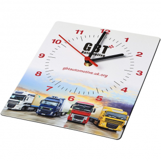 Wall clock made with vibrant in-mould labelling for exceptional brand exposure. The clock face is made from at least 97% recycled materials.Supplied in individual gift boxes with an AA battery.
