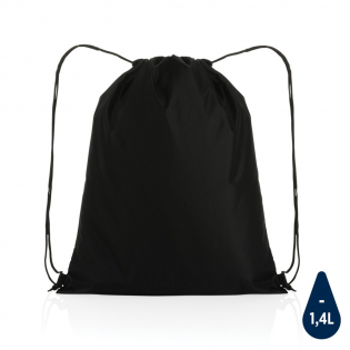 No greenwashing, but telling a true story about sustainability! This Impact 190T RPET drawstring bag is made with AWARE™ tracer. With AWARE™, the use of genuine recycled fabric materials and water reduction impact claims are guaranteed, by using the AWARE disruptive physical tracer and blockchain technology. Save water and use genuine recycled fabrics. With the focus on water 2% of proceeds of each Impact product sold will be donated to Water.org. The drawstring bag is super lightweight and easy to take anywhere on the go. This bag has reused 2,4 PET bottles(500ml) and saved 1,41 litres of water. Water savings are based on figures when compared to conventional fibre. This calculated indication is based on reliable LCA data as published by Textile Exchange in their Material Snapshots 2016.