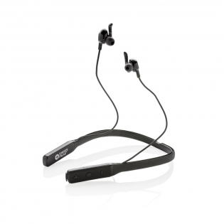 Breakthrough technology earbuds with active noise cancelling feature. The earbuds come with an integrated sweat proof neckband for perfect weight distribution that results in a comfortable wearing experience. With 250 mAh battery that allows a music play time of up to 8 hours in ANC mode. In normal mode up to 10 hours. Charging the earphone takes 1 hour. With BT 4.2 for super smooth and easy wireless connection up to 10 metres. With microphone/pick up function to answer calls. Including zipper pouch. ANC degree: 25 DB.
