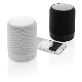 5W wireless speaker in a modern design. With BT 4.2 for easy connection. Battery 800 mAh that allows play time 4-5 hours. Operating distance 10 metres. With built in MIC for hands free calling.