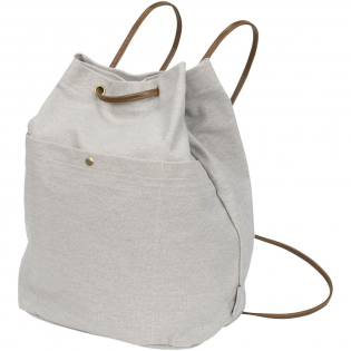 Versatile on-trend cotton canvas drawstring bag with one main compartment and a front snap closure pocket. Part of the Field & Co.® Harper cotton canvas collection.