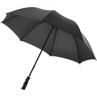 23'' automatische polyester paraplu, metalen schacht, metalen baleinen en kunststof handvat.