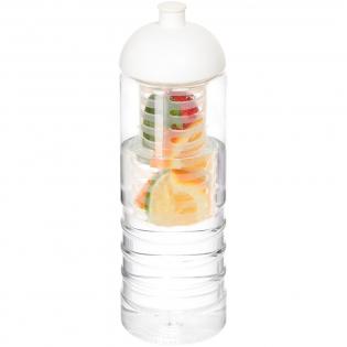 Bouteille de sport à simple paroi avec design nervuré. Dispose d'un couvercle anti-déversement avec bec à système de pression-traction et d'un infuseur amovible qui permet d'ajouter votre saveur de fruit préférée à votre boisson. Capacité de 750 ml. Couleurs à mélanger et assortir pour créer la bouteille parfaite. Contactez-nous pour plus d'options de couleurs. Fabriqué au Royaume-Uni. Emballé dans un sachet biodégradable et compostable.