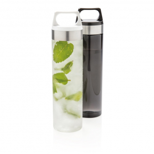 Luxury, durable and leakproof. This water bottle provides a carry handle and wide mouth drinking lid. 100% BPA free. Handwash only. Content 650 ml.
