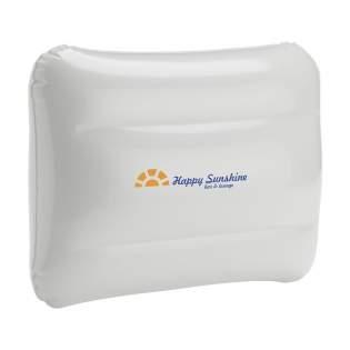 Aufblasbares PVC- Kissen mit Sicherheitsventil.