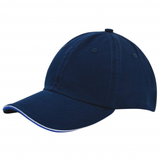 """This might be one of our most popular baseball caps of the moment. Between the upside and downside of the peak we """"sandwiched"""" a different colour. Complete your outfit with the colourful Duo Colour Sandwich Cap. With silver buckle."""