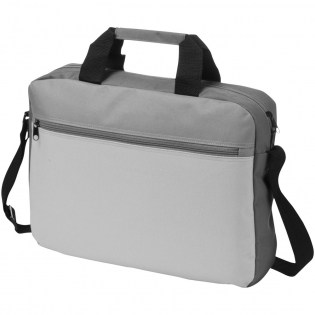 Trias conference bag. This on trend colour family document bag has a zippered main compartment, front zipper pocket and adjustable shoulder strap. 600D Polyester.